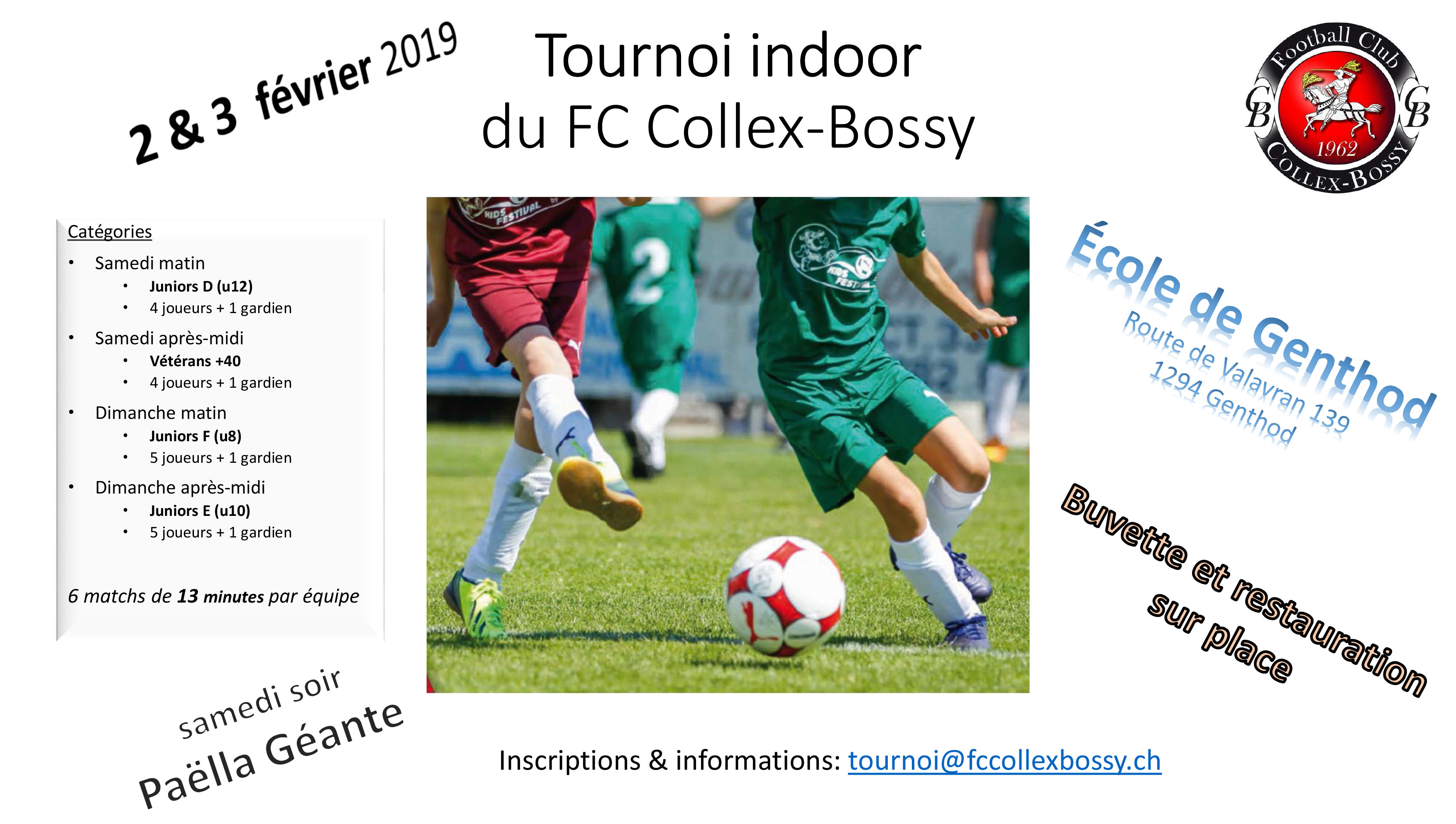 Tournoi indoor FC Collex-Bossy